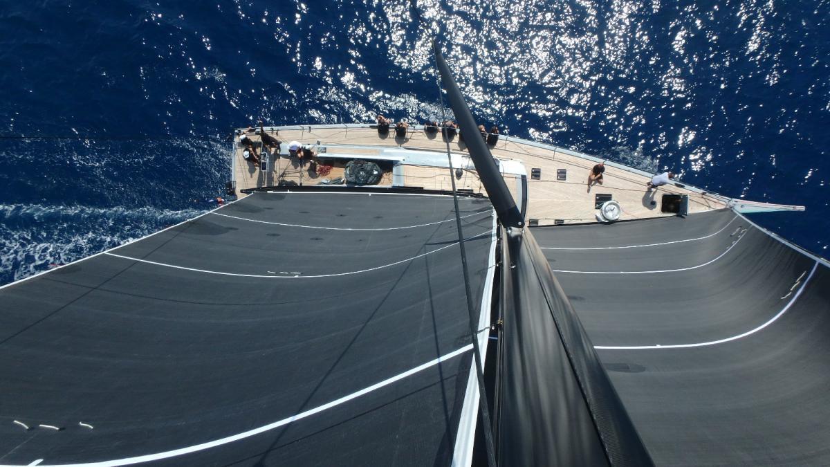 Swan 78-HAROMI Aerial-Superyacht-Segel