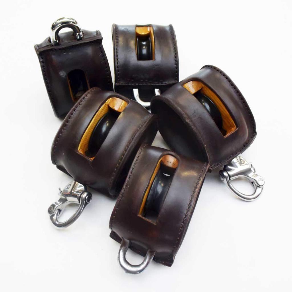 Yacht-Blöcke beledern-Steuerad beledern-Yachtleder-Yacht leather-boat leather-leatherworks-Lederarbeiten-1