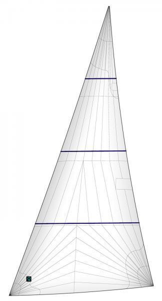 Rollgenua-Rollvorsegel-Triradial