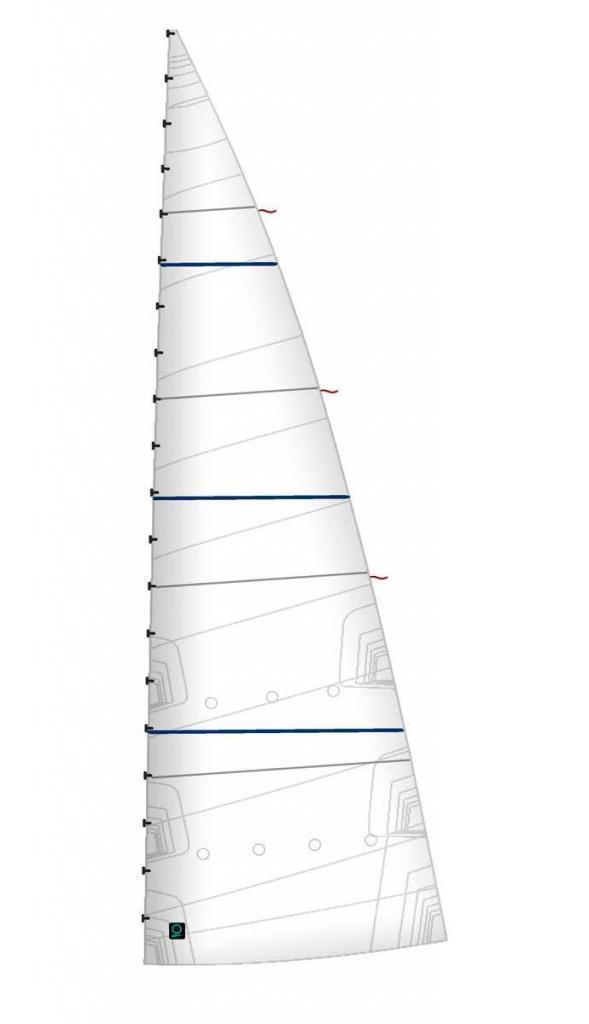 Grosssegel-Crosscut-Horizontalschnitt